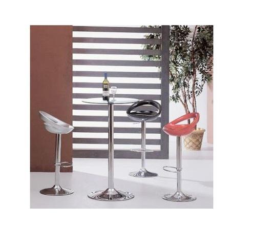 Mesa alta de cristal bernie para cocina y bar