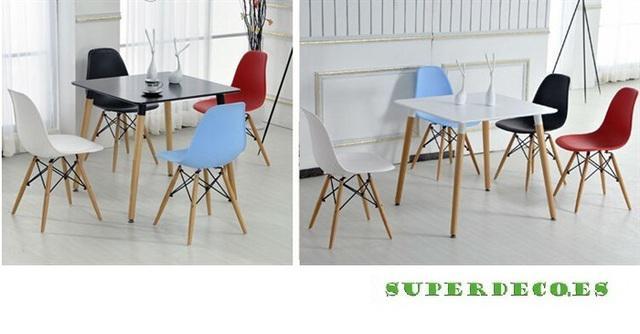 Mesa cuadrada nury, blanca, madera, 80*80