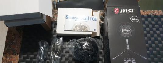 Microfono snowball ice black nuevo,