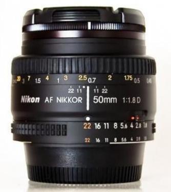 Nikkor af 50 mm f1.8 d (nikon)