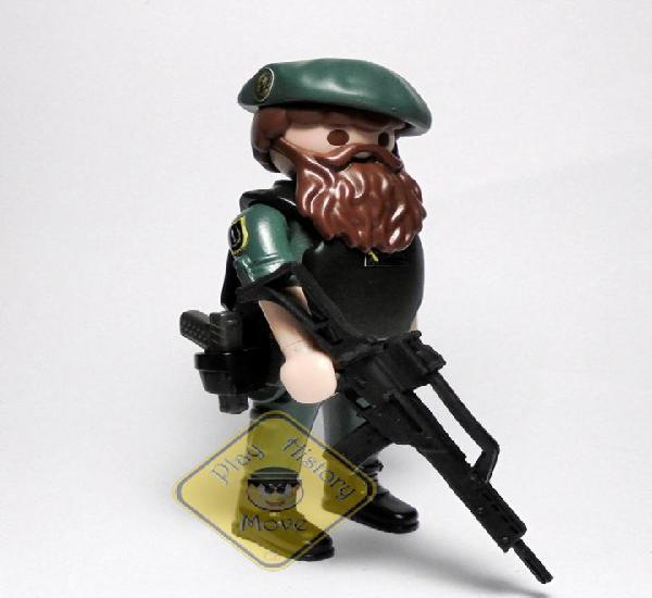 Playmobil custom ☆ policia ☆ guardia civil - gar- unidad