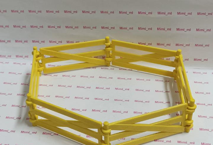 Playmobil 6 tramos valla amarilla cercado animales granja