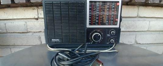Radio philips 680. cuatro bandas. con fm. pilas