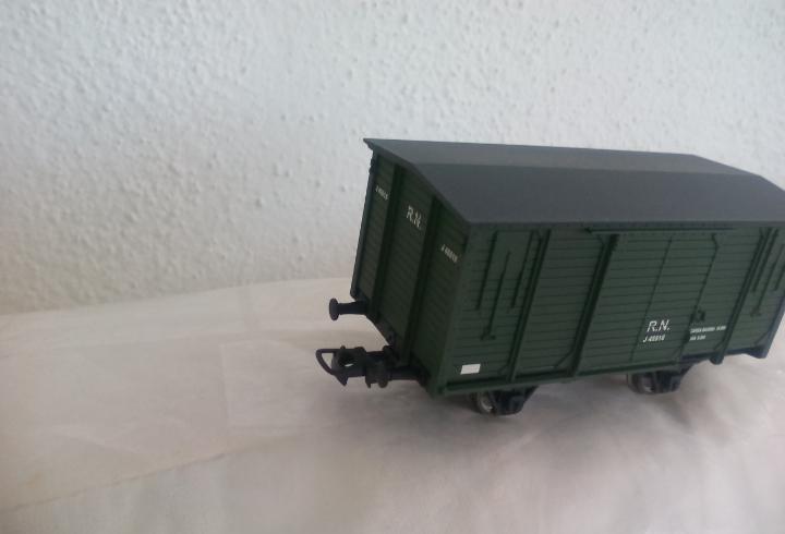 Vagón de cargo o mercancias de tren ibertren start ho, del