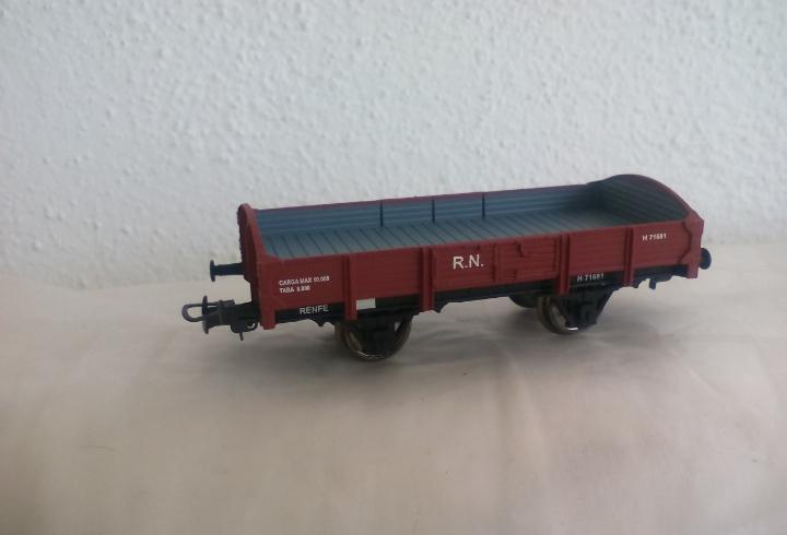 Vagón de cargo o mercancias r.n. de tren ibertren start ho,