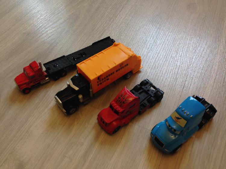 4 camiones coches camión basura coches metálico