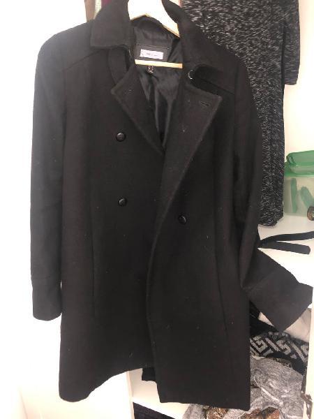 Abrigo elegante negro talla s