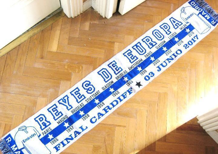 Bufanda real madrid reyes de europa final cardiff 2017