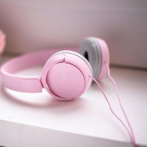 Cascos auriculares sony rosas originales