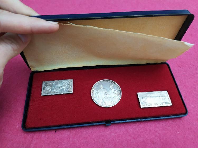 Monedas plata apollo-soyuz