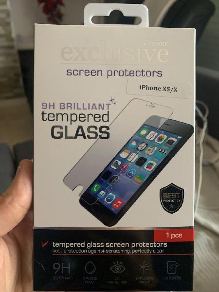 Protector cristal templado h9 iphone xs / x