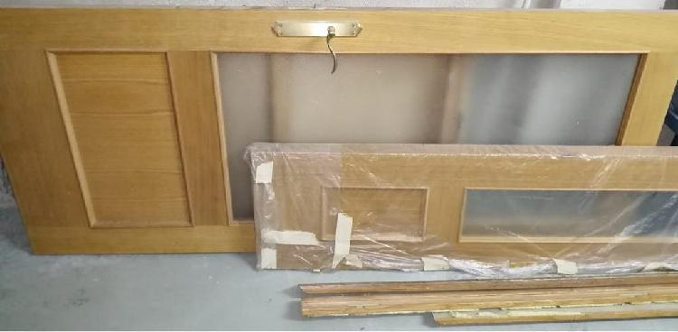 Puerta interior doble hoja roble