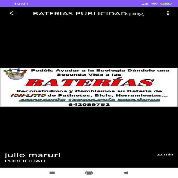Restauración de baterías ion litio