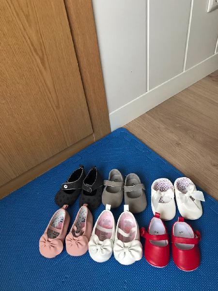 Zapatitos bebé niña (los seis pares)