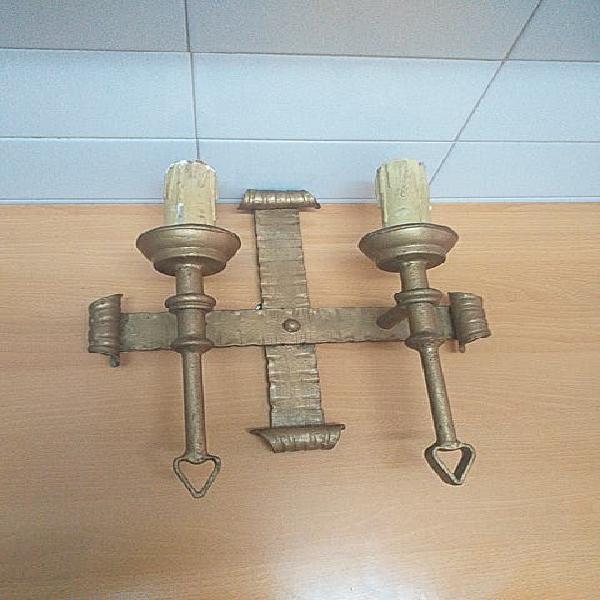 Aplique pared, candelabro eléctrico decorativo