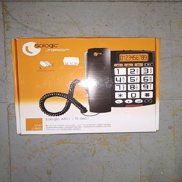 Teléfono fijo con botones grandes digital