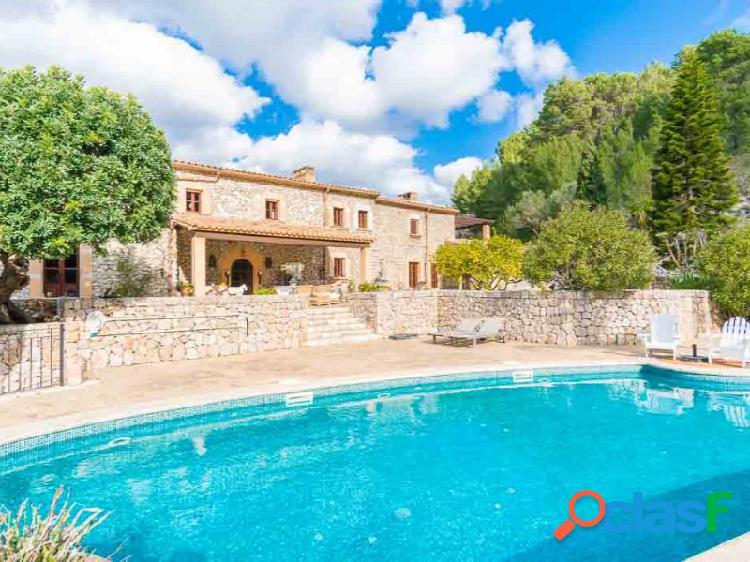 Impresionate y soleada finca es capdella 5 dormitorios piscina
