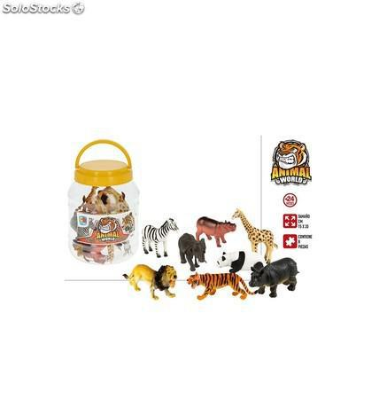 Bote animales y accesorios 8 animales salvajes - 15X20 cm