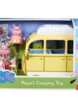 Caravana viaje peppa pig camping niña