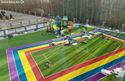 Césped artificial para parques infantiles
