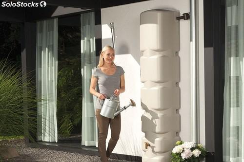 Depósito agua jardín verde/beige 300 litros
