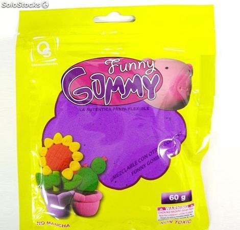 Funny gummy 275 1981. pasta flexible. modelo aleatorio.