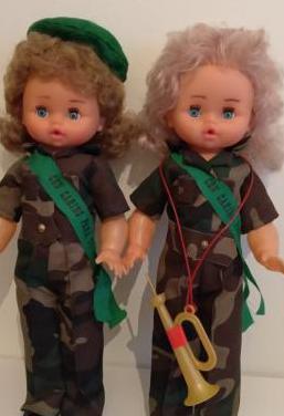 Juguete muñecas militares años 70