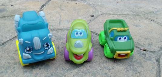Juguetes. coches caras. playskool