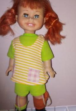 Muñeca pipi calzaslargas años 70