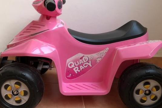 Quad racy 6 v, color rosa para niñs