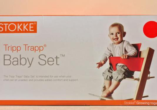 Stokke tripp trapp baby set rojo
