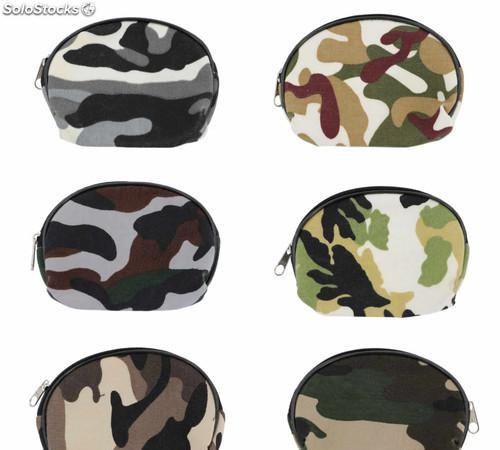 Set 12 monederos tela camuflaje