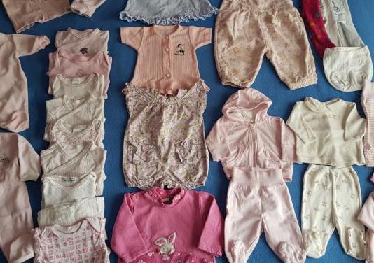 T. 0/6 meses. lote ropa bebé niña