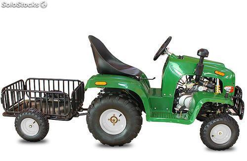 Tractor infantil 110cc 3 marchas + marcha atras + trailer