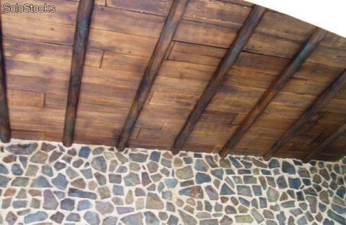 Vigas imitacion madera decoración