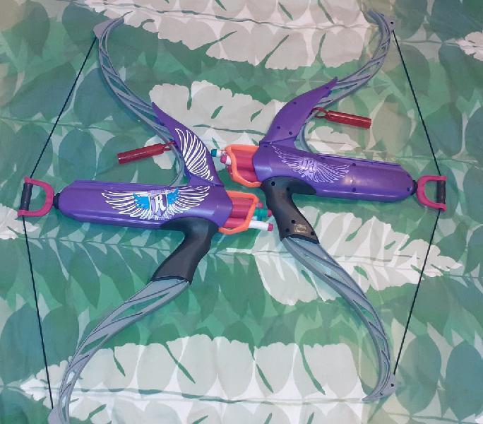 2 arcos lanza dardos nerf rebelle