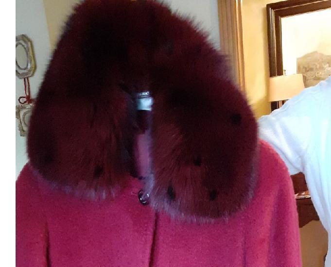 Abrigo italiano color cerezarubí t44