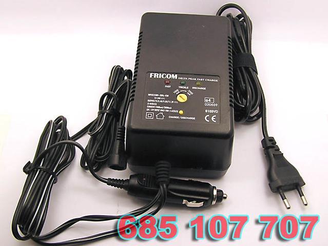 Cargador rapido fricom de varios voltajes e indicadores