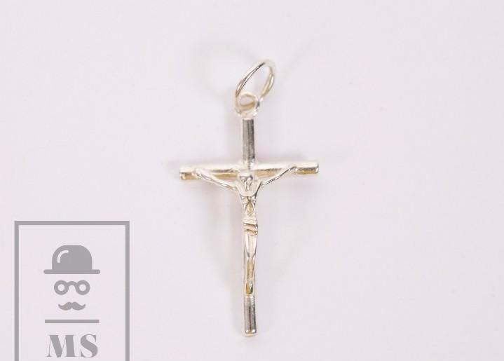 Crucifijo de plata - jesucristo / jesús - medidas 15 x 25