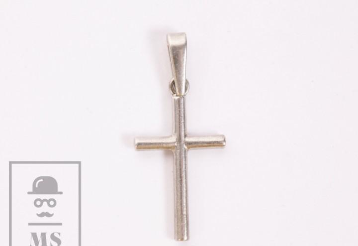 Crucifijo de plata - marcas de constraste - medidas 15 x 25