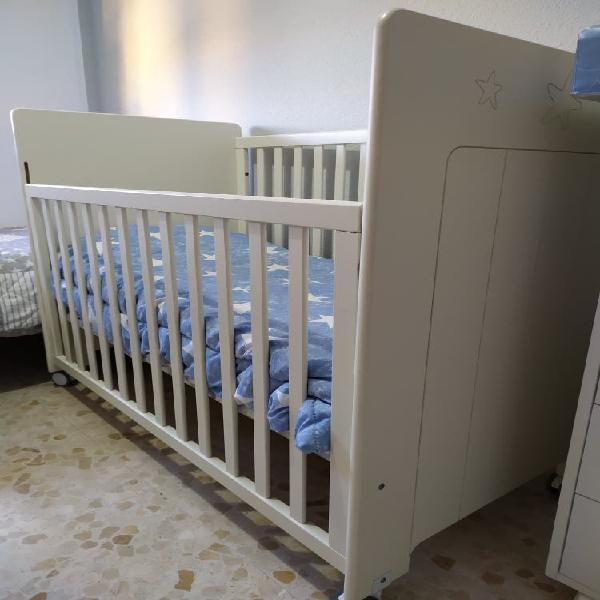 Cuna bebé color blanco