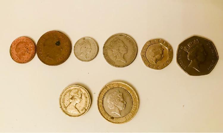 Lote completo monedas libra esterlina