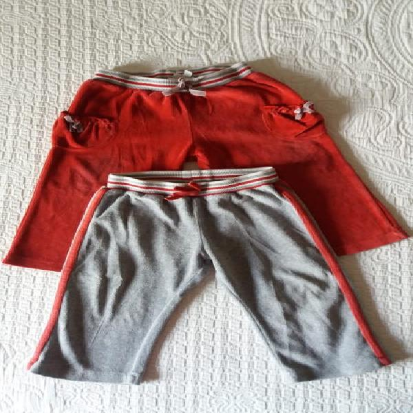 Lote pantalones mayoral bebé niña talla 12 meses -