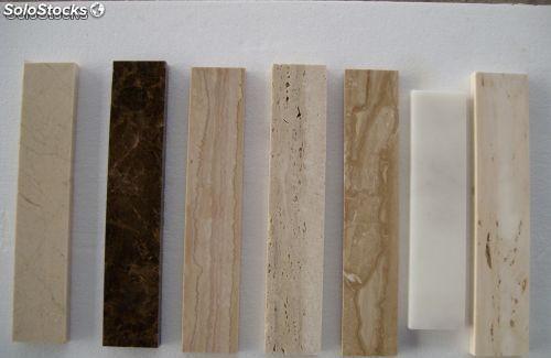 Marmol en rodapie de diversos colores