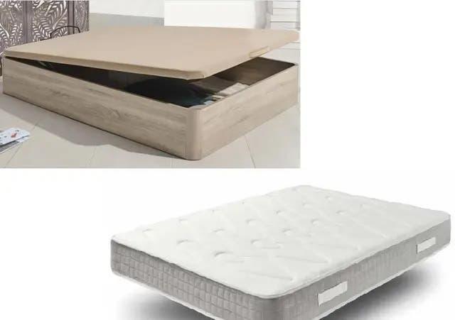 Pack canape con colchón de muelles ensacados