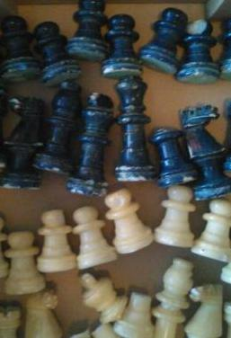 Piezas ajedrez mármol