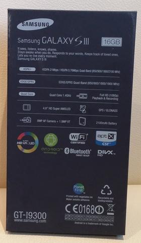 Samsung galaxy i9300 s3 16gb libre de fabrica azul 2 años