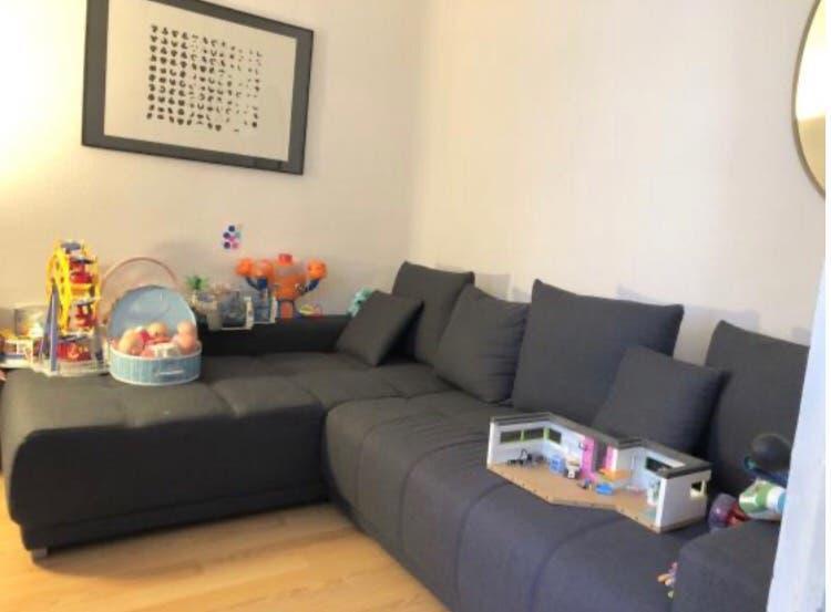Sofá cama con chaise longue + almacenaje 200x275