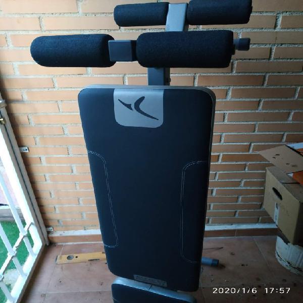 Banco pesas, ejercicios, abdominales