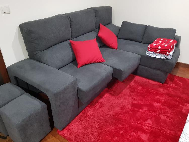 Sofa chaisselonge + mueble salon